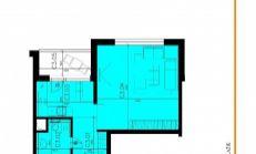 Na prenájom velký 1 izbový byt v projekte Mercatino v Rači