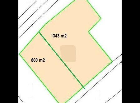 Stavebný pozemok Trenčianske Mitice, 1343 m2 + IS / 44.319,- €