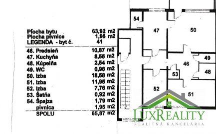 3-izb. byt, Nové Mesto nad Váhom - Zelená ul.