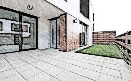 DOM-REALÍT ponúka, Krásny 2izb byt s veľkou terasou, pivnicou a parkovacím státim v cene