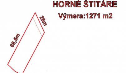 Horné Štitáre, pozemok za super cenu 1271 m2