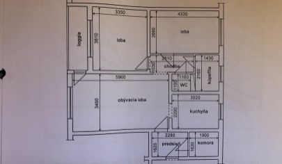 Na predaj 3 izbový byt v Šamoríne, Čilistovská ulica