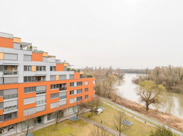 KARLOVESKÉ RAMENO, 2-i byt, 64 m2 – NOVOSTAVBA, zariadený, GARÁŽOVÉ STÁTIE, pivnica, voľný IHNEĎ