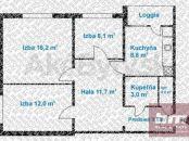 3 izb. byt na Sedmokráskovej ul. Ružinov, 8/12 posch. lodžia