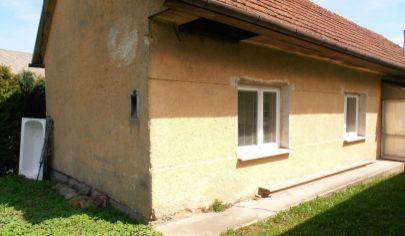 DUBOVÉ 2 izbový rodinný dom, okr. Turčianske Teplice