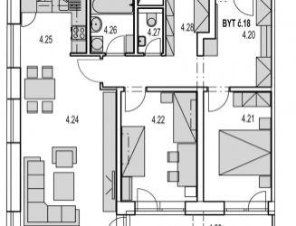 M18:  Na predaj veľký 3 izbový byt v novostavbe Byty MAXIM - Martin - Podháj + parkovacie miesto,