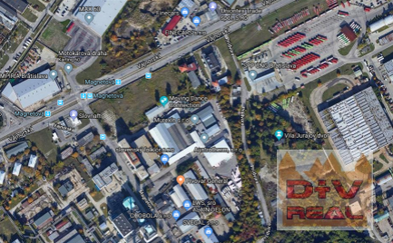 Predaj: stavebný pozemok v komerčnej zóne, Magnetová-Vajnorská ulica, Bratislava III, Nové mesto, vypracovaný projekt, vstup z dvoch strán