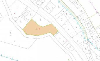 Stavebný pozemok vhodný na výstavbu chaty alebo rodinného domu Chvojnica 1272 m2