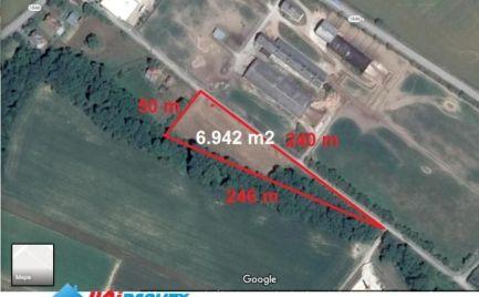 BÁNOVCE nad BEBRAVOU – obec ŠIŠOV / pozemok o výmere 6.942 m2 vhodný len priemyselnú výstavbu  / investičná príležitosť