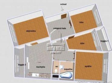 PREDAJ - 4 izbový byt na ulici Šášovská