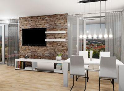 M25:  Luxusný veľkometrážny 4 izbový byt s terasou v novostavbe Byty MAXIM - Martin - Podháj + garáž,