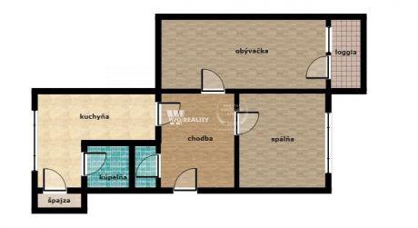 2 izbový byt s loggiou, Hliny 8 - Lichardova ul., Žilina