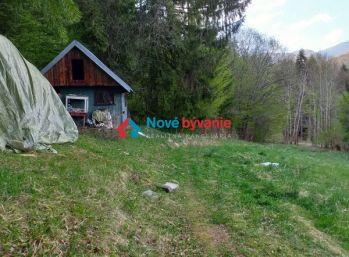 Pozemok s chatkou za obcou Slovenská Ľupča