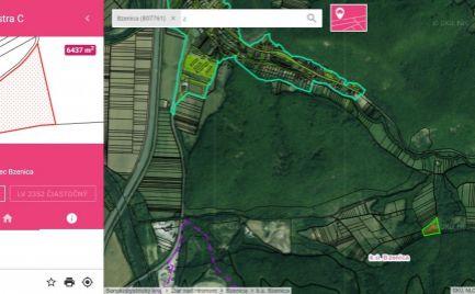 Rekreačný pozemok v obci Bzenica, 6437 m2