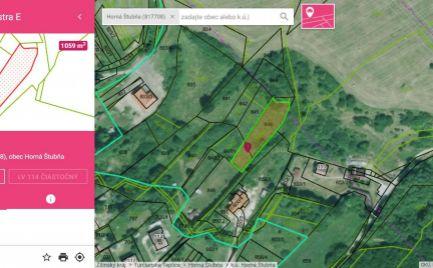 Pozemok v obci Horná Štubňa, v tesnej blízkosti novej výstavby a intravilánu