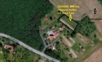 Záhrada 939 m2 pri lese na polosamote, k.ú. Stará Turá.