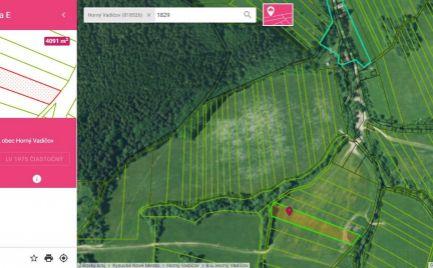Na predaj rekreačný pozemok v extraviláne obce Horný Vadičov ako investícia