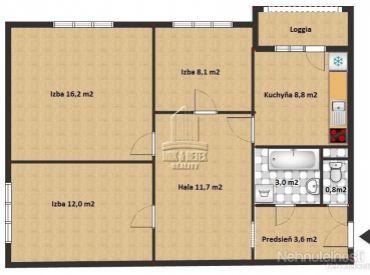 PREDAJ - 3 izbový byt na ulici Lenardova - kompletná rekonštrukcia
