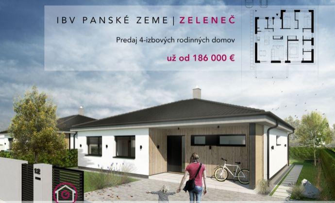 NOVINKA! Kvalitný 4-izbový samostatne stojaci bungalov vo výbornej lokalite v obci Zeleneč!