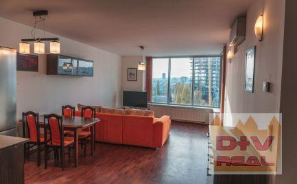D+V real ponúka na prenájom: 3 izbový byt, Bajkalská ulica, Tri veže, Bratislava III, Nové Mesto, zariadený, parkovacie státie