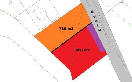 Stavebný  pozemok 923 m2,   Tajov pri B. Bystrici -  Cena 48 600€