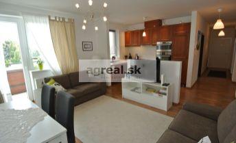 Predaj, slnečný a kompletne vybavený  4- izb. byt (85,20 m2 + 3, 65 m2 balkón) s park. miestom v novostavbe, ul. Vrakunská, BA II- Podunajské Biskupice