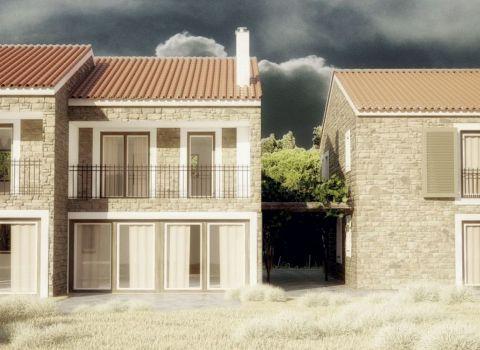 Moderný 4-izbový prímorský rodinný dom v mediteránskom štýle, Dalmácia, 1. alebo 2. rad od mora