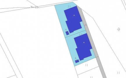 Stavebné pozemky 704 m2,  Horná Mičiná, pri B. Bystrici, so stavebným povolením - výborná cena – 55 000 €