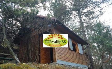 ZĽAVA - Záhradná chatka  s pozemkom 332 m2, s elektrikou a vodou v Banskej Bystrici – cena 12 000€