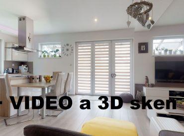 Predané.-Video a 3D. Bungalov 4+kk nový, nízke náklady, ticho a krásny výhľad, Zvolen - Lieskovec