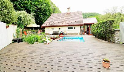 JEDINEČNÝ dom + chata s bazénom,v malebnej prírode, predaj, Kysak, Košice-okolie