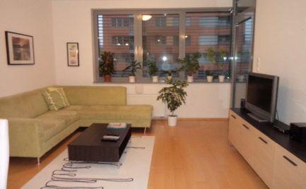 Ponúkame do prenájmu 2 izbový moderný byt sparkovacím státím vbezprostrednej blízkosti ramena Dunaja, na ulici Karloveské rameno, lokalita Karlova Ves.