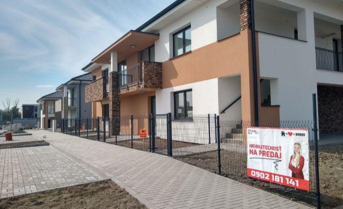 byt č. SO-03-4 - Na predaj byty so záhradou Dunajská Riviéra v obci Hamuliakovo