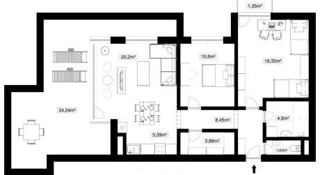 Predaj 3 izbového bytu s terasou v centre mesta Sereď.