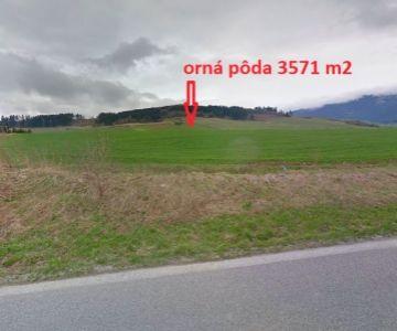 Orná pôda na predaj, 3571 m2
