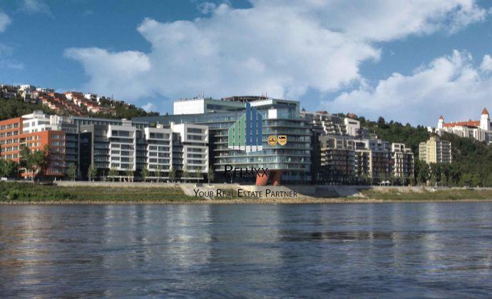 BA I Staré Mesto River Park predaj 4 izbového exluzívneho bytu s 2x terasami s výhľadom na Dunaj s 2x garážovým státím