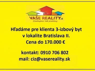 Kúpa 3-izbový byt Bratislava - Ružinov