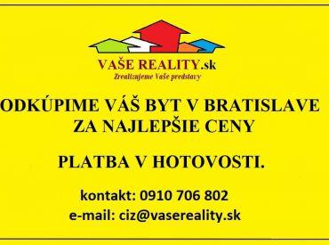Odkúpime Váš byt v Bratislave
