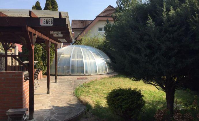 Prenájom: rodinný dom, záhrada, bazén, dvojgaráž, Bratislava II, Hrušovská ul.