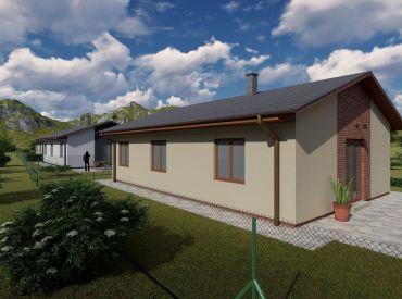 Predaj posledného 3- izbového domu  IBV v obci Brezany,  88 m2, 129 500 Eur