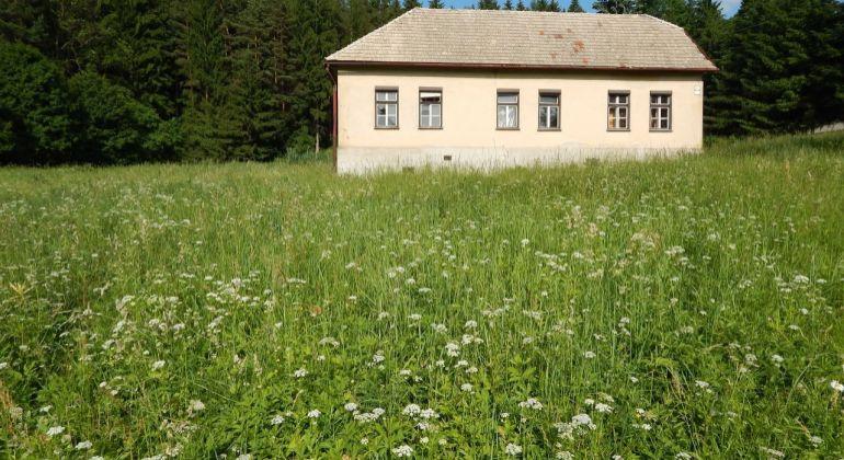 Na predaj pozemok s rodinným domom 4688 m2, Handlová, Horný koniec.