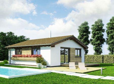 Rodinný dom 3-izbový 72,90 m2, pozemok 797 m2 v obci Hrádok.