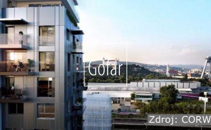 Nadštandardný 1  izbový byt s balkónom v projekte EINPARK v atraktívnej lokalite blízko centra Bratislavy