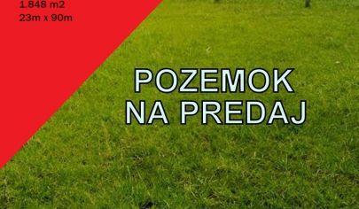 PRAVOTICE, okr Bánovce n/Bebravou, stavebný pozemok 1.848m2
