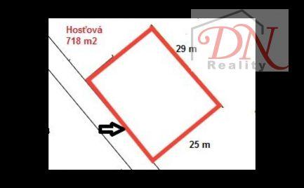 Pozemok 718 m2 v tichej lokalite pri Nitre - Hosťová