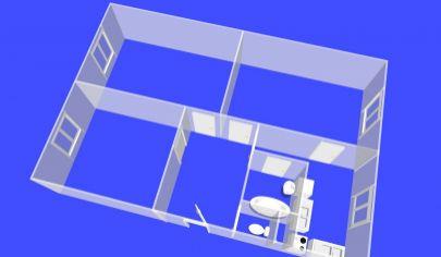 TOPOĽČANY 3 izbový veľkometrážny byt 85 m2, centrum mesta