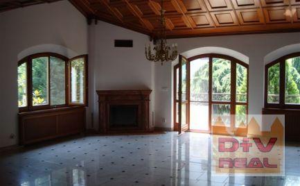 D+V real ponúka na prenájom: 6 izbový rodinný dom, Bellova ulica, Bratislava III, Koliba, Nové mesto, nezariadený, výťah, záhrada, záhradný domček