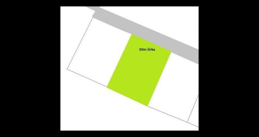 Pozemok Veľké Držkovce 1424m2(šírka 30m) - 29 904€