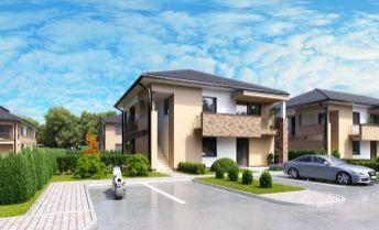 3 izbové byty s predzáhradkou a parkovaním v nových Vila domoch v Hamuliakove