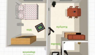 REZERVOVANÉ - SLNEČNÝ 1-izbový byt s loggiou v LIPANOCH
